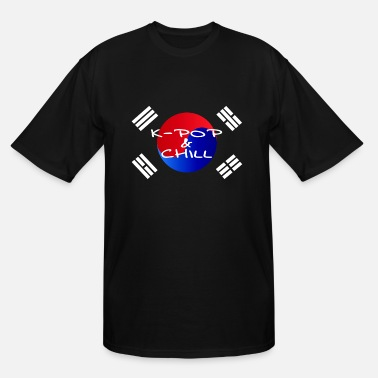 Flags Kpop Kpop and chill Korean Kdrama Seoul Namsan shirt - Men's Tall T-Shirt