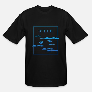 Blue Sky Sky Diving Blue - Men's Tall T-Shirt