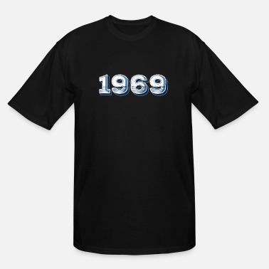Year 1969 '69 - 1969 Birth Year For 1969 Birthdays - Distressed - Men's Tall T-Shirt