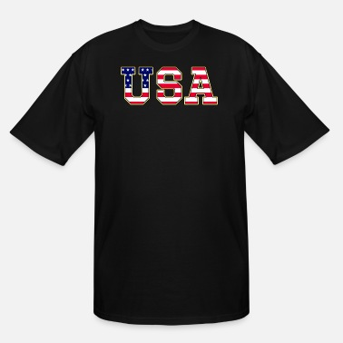 Team Edge USA Flag - Men's Tall T-Shirt