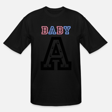 Twin Baby Twins - Baby gender reveal for baby A - Men's Tall T-Shirt