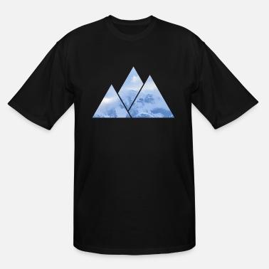 Mountains Mountains in Mountains - Men's Tall T-Shirt