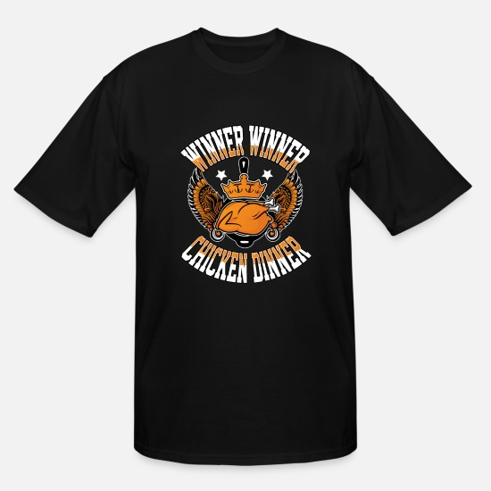 Clash T-Shirts - winner chicken dinner games gaming multiplayer - Men's Tall T-Shirt black