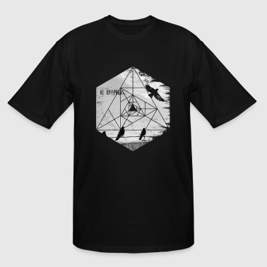 Raven Fly Be Different. Flying Raven Inspirational Hexagon - Men's Tall T-Shirt