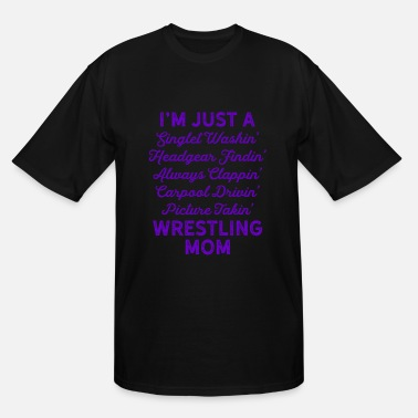 Funny Singlets & Wrestling Singlet Washin Mom Purple Gift Dark - Men's Tall T-Shirt