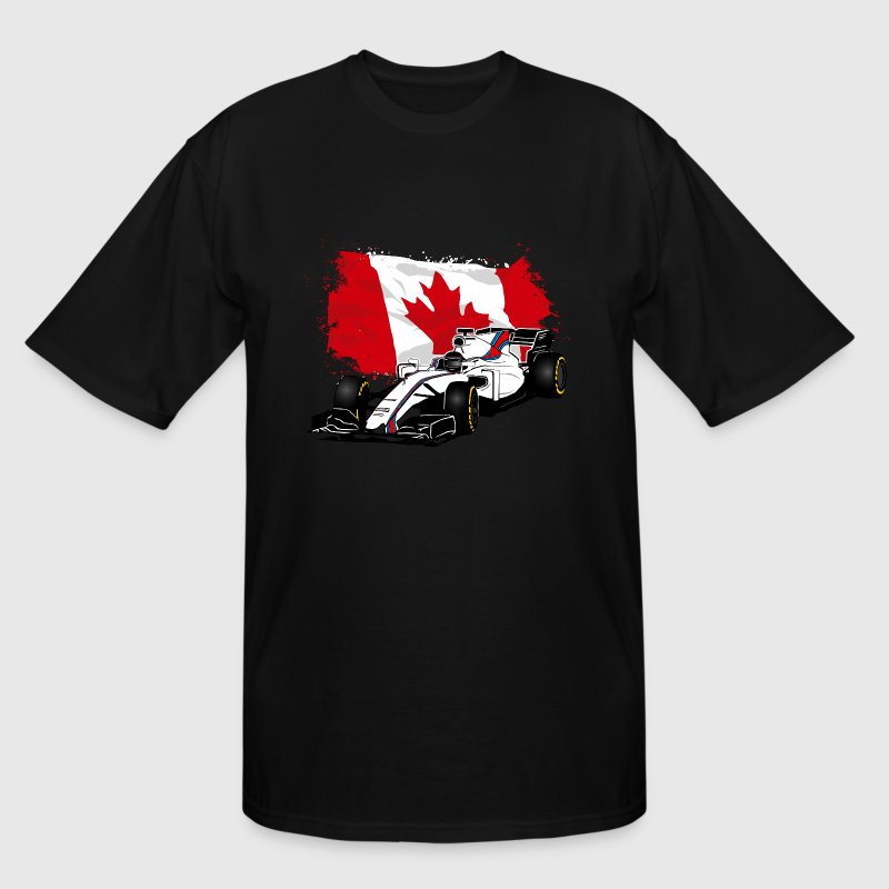 Formula One - Formula 1 - Canada Flag - Men's Tall T-Shirt