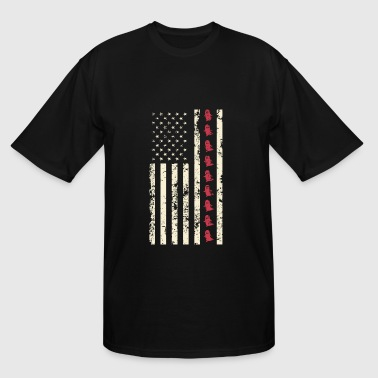 Flag Ghost Ghosts - Ghost Flag Halloween - Men's Tall T-Shirt