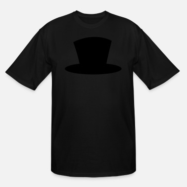 Tops Magician top hat shape magician magic - Men's Tall T-Shirt