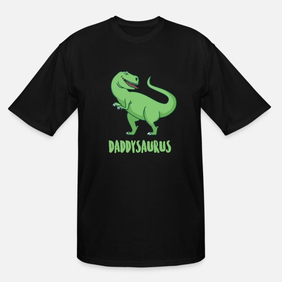 Gift Idea T-Shirts - Dino Dinosaur T-rex Daddy Primal Gift Daddy - Men's Tall T-Shirt black