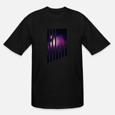 Purple Flag Galaxy USA The American Flag with a purple outer - Men's Tall T-Shirt