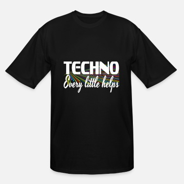 Vibrant Colors Strikingly vibrant colorful Techno Every Little - Men's Tall T-Shirt