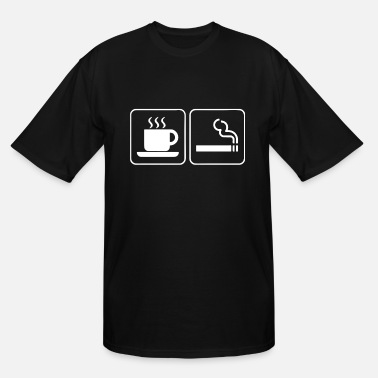 Coffee And Cigarettes Coffee And Cigarettes Caffeine Nicotine Smoking Ho - Men's Tall T-Shirt