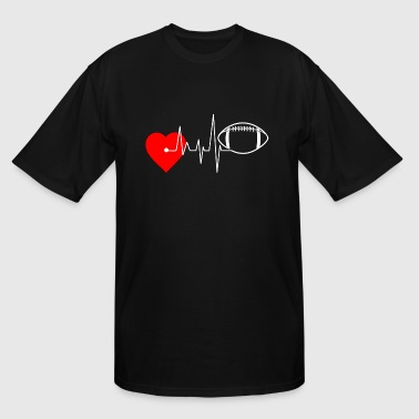I Love Football Heartbeat Football - I Love Football - Men's Tall T-Shirt