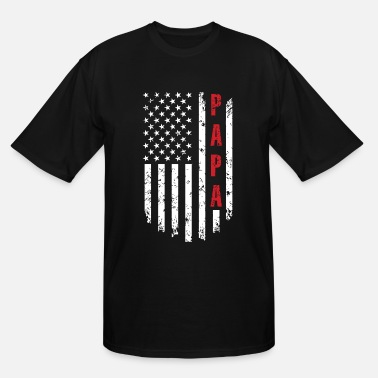 Papa Best Papa Ever American Flag - Men's Tall T-Shirt