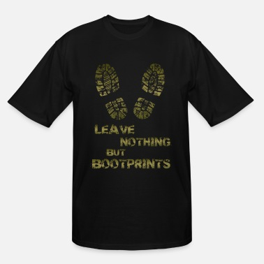 Leave BOOTPRINTs HIKING TEE ADDICT - Men's Tall T-Shirt