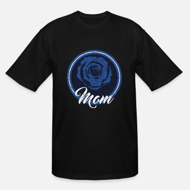 Police Officer Blue Line Police Officer Mom Police Officer Mom Blue Line Rose - Men's Tall T-Shirt