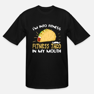 Funny Fitness Fit This Fitness Taco Funny Gym Shirt - Men's Tall T-Shirt