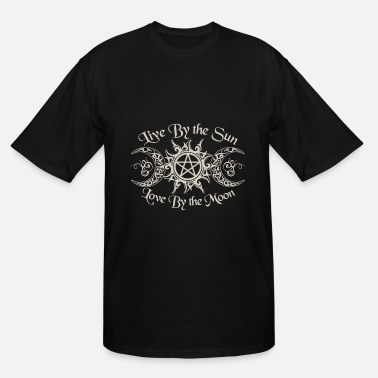 live by the sun love by the moon weed t shirts - Men's Tall T-Shirt
