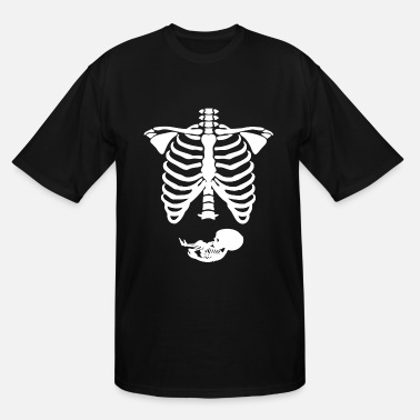 Sex Skeletons Pregnant Skeleton Ribs Bones Halloween Pregnancy C - Men's Tall T-Shirt