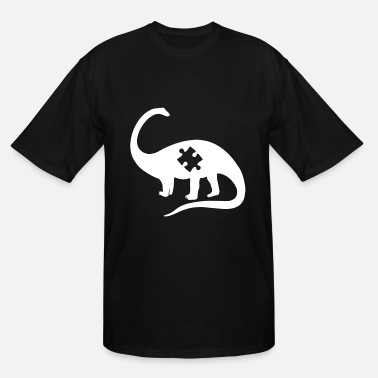 Puzzle Dinosaur Autism Awareness Toddler Infant Ki - Men's Tall T-Shirt