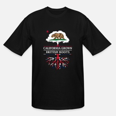 British Roots California Grown with British Roots - Men's Tall T-Shirt