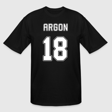 Argon Periodic Table - Men's Tall T-Shirt