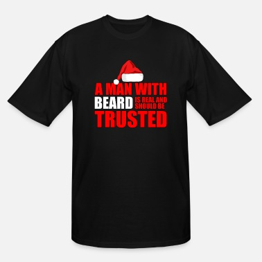 Mens Funny Holiday Beard Christmas Santa for Beard Men - Men's Tall T-Shirt