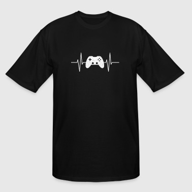 GAMING IS MY LIFE GAMER VIDEOGAMES COOL HEARTBEAT - Men's Tall T-Shirt