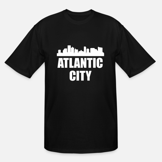 Silhouette T-Shirts - Atlantic City NJ Skyline - Men's Tall T-Shirt black
