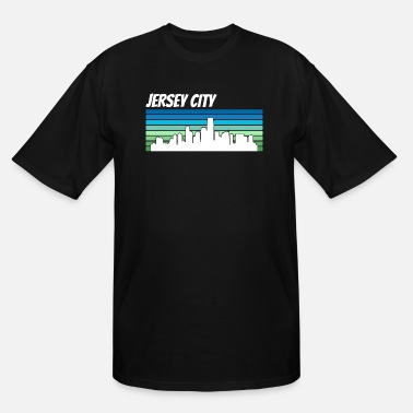 Retro City Retro Jersey City Skyline - Men's Tall T-Shirt