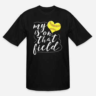 72cd70e7 Softball Funny My Heart is on that Field Softball Funny Softball -  Men'. Men's Tall T-Shirt
