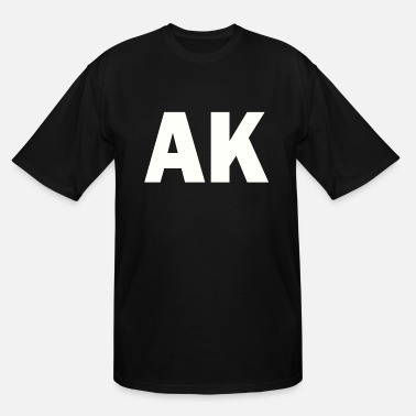 Akseli PLACE AND TIME AK WHITE - Men's Tall T-Shirt