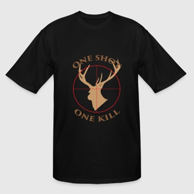 Deer hunter T - shirt - One shot, one kill - Men's Tall T-Shirt