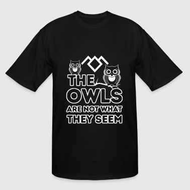 Owl - Owl - the owls are not what they seem - Men's Tall T-Shirt