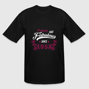 Feisty Born in 1952 - Feisty and Fabulous - Men's Tall T-Shirt