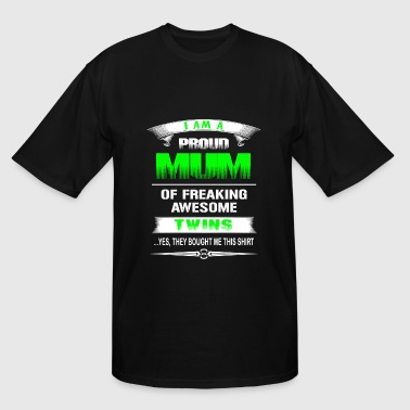 Twins - Proud mum of awesome twins t-shirt - Men's Tall T-Shirt