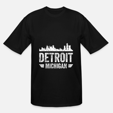 State Capital DETROIT Michigan Capital City State USA Present - Men's Tall T-Shirt