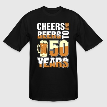 50 Rocks Cheers And Beers To 50 Years - Men's Tall T-Shirt