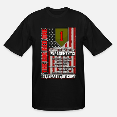 1st Infantry Division 1st Infantry division - The big red one - Men's Tall T-Shirt