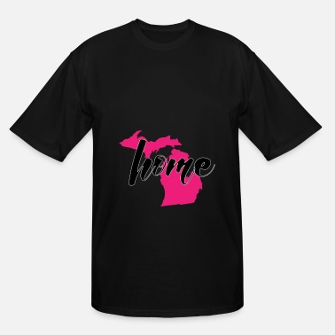 Detroit Spartans Michigan my home in the pink - Men's Tall T-Shirt