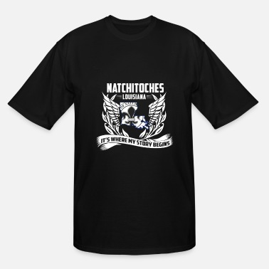 Citystate Natchitoches Louisiana - Where my story begins - Men's Tall T-Shirt