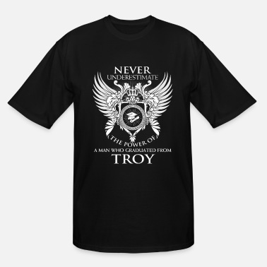 Destroy Rock Band Troy - Never underestimate troy graduates - Men's Tall T-Shirt