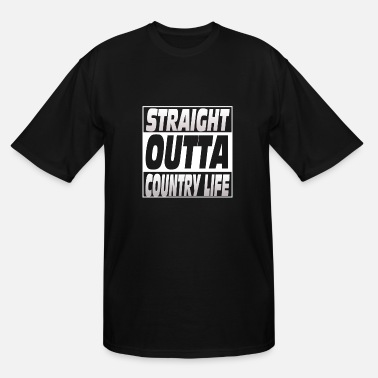 Country Life Country life - Straight outta country life - Men's Tall T-Shirt