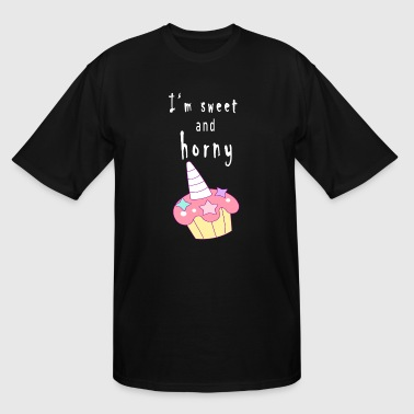 Sweets Cake Sweet Horny Cup Cake - Men's Tall T-Shirt