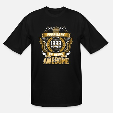 February 1983 February 1983 35 Years Of Being Awesome - Men's Tall T-Shirt