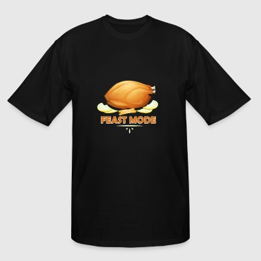 Feast Mode Funny Thanksgiving Funny Feast Mode Thanksgiving Turkey - Men's Tall T-Shirt