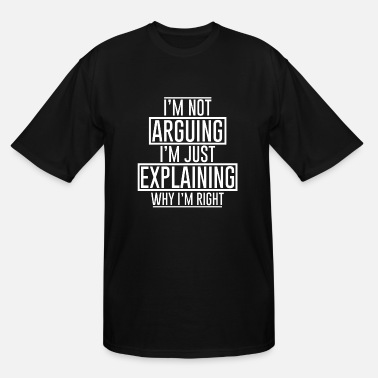 Know Discussion dispute know it all smartass smart gift - Men's Tall T-Shirt