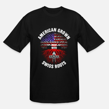Flag Swiss American Grown Swiss Roots - Men's Tall T-Shirt