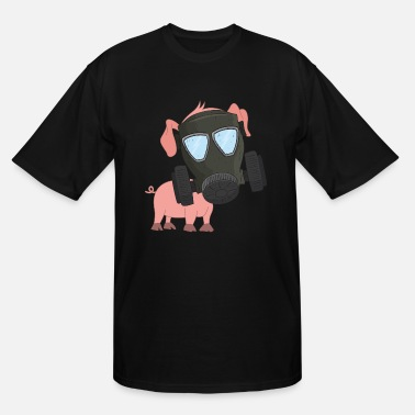 Air Pollution Pig with gas mask Air pollution - Men's Tall T-Shirt