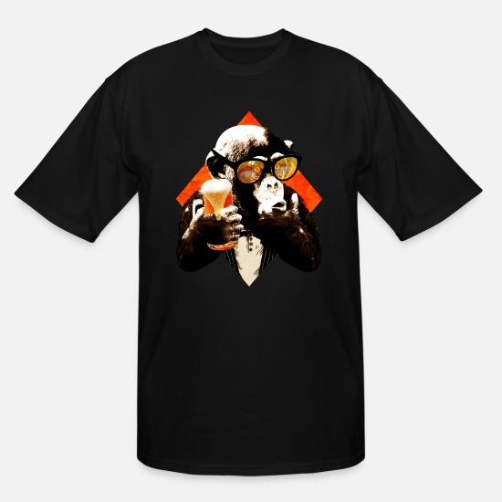 Craft Beer T-Shirts - Beer Chimp Craft Beer Monkey - Men's Tall T-Shirt black
